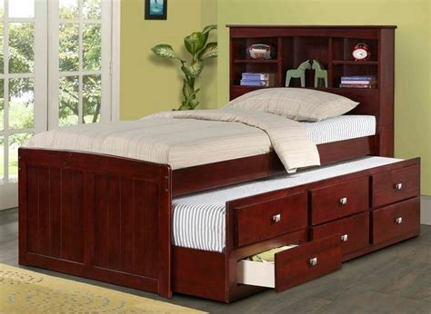 Bookcase Headboard With Drawers by Or Captain S Bed With Trundle Storage Drawers