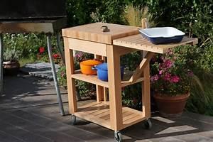 Meuble Pour Plancha : bois et chariot plancha ~ Melissatoandfro.com Idées de Décoration