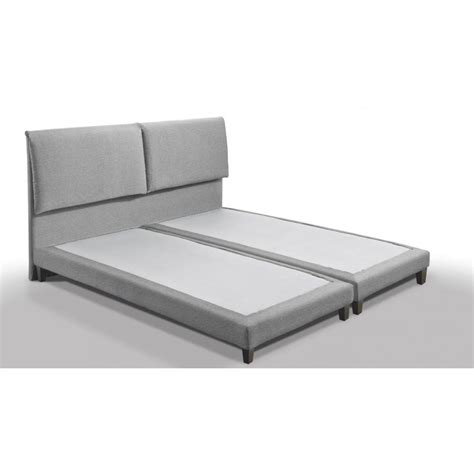 lits design chambre literie lit design haut de gamme balzac 160 200 cm tissu tweed gris