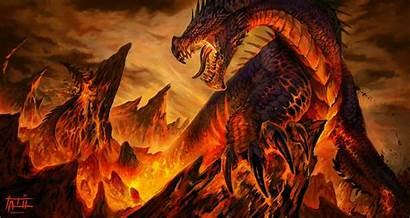 Dragon Fantasy Lava Vulcan Desktop Tatiilange Fire