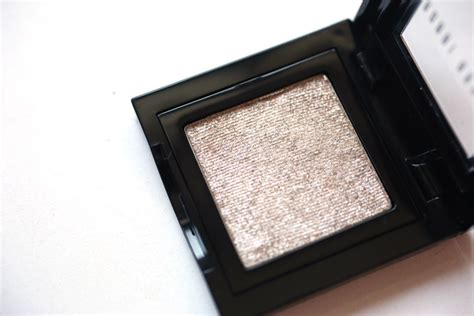 bobbi brown sparkle eyeshadow silver moon review swatch