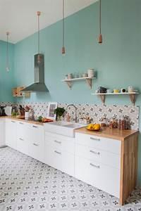 Cuisine Carreau De Ciment : 1001 mod les de cuisine avec carreaux de ciment ~ Melissatoandfro.com Idées de Décoration
