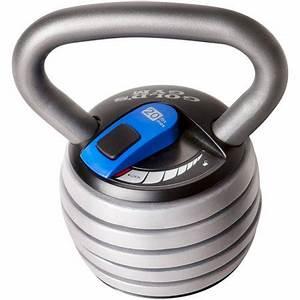 Gold's Gym Extreme 20 lb Adjustable Kettlebell - Walmart.com