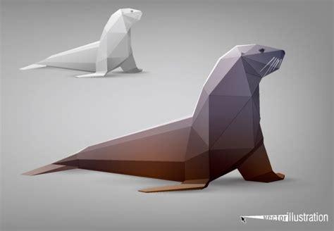 model origami  vector    vector