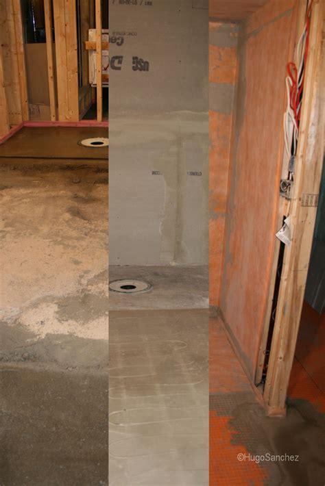 basement curbless shower ceramiques hugo sanchez