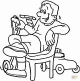 Coloring Lawn Mower Pages Printable Paper Drawing Through sketch template