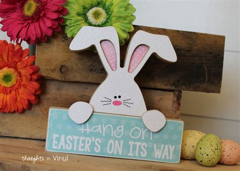 wood easter crafts thoughts  vinyl