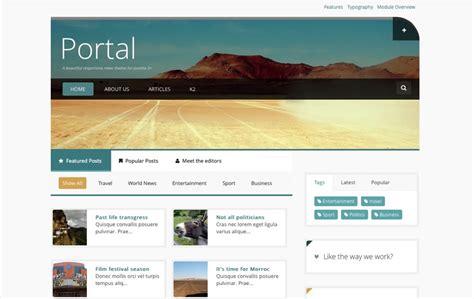 Jomla Templates by Responsive News Joomla Template Portal Joomlabamboo