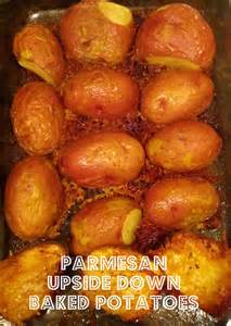Upside Down Parmesan Potatoes Baked