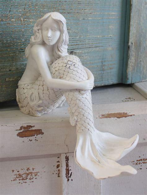 mermaid shelf sitter resin figurine bathrooms decor