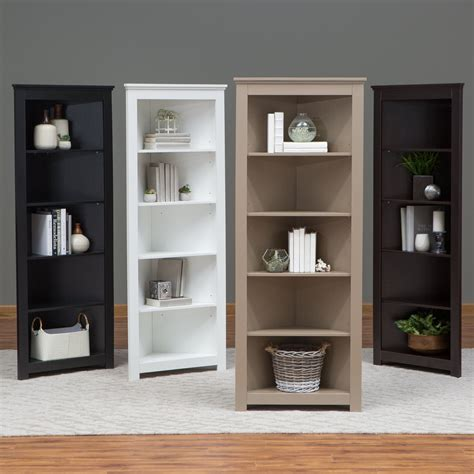 Black Bookshelves For Sale by Finley Home Redford Corner Bookcase Bookcases At Hayneedle