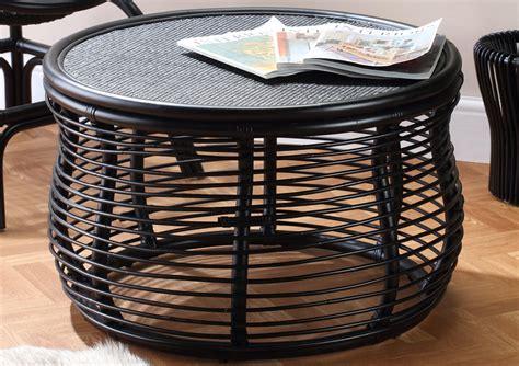 East at main tyler tan natural fiber. Black Royal Rattan Coffee Table | Desser & Co