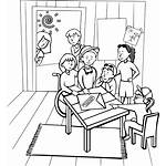 Clipart Children Clubhouse Drawing Teacher Cliparts Printable