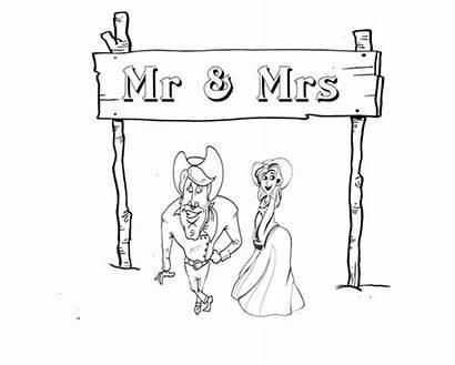 Coloring Pages Western Mrs Mr Printables Groom