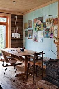 47 calm and airy rustic dining room designs digsdigs With rustic dining room wall decor