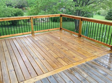 crappy  cedar deck painting finish work