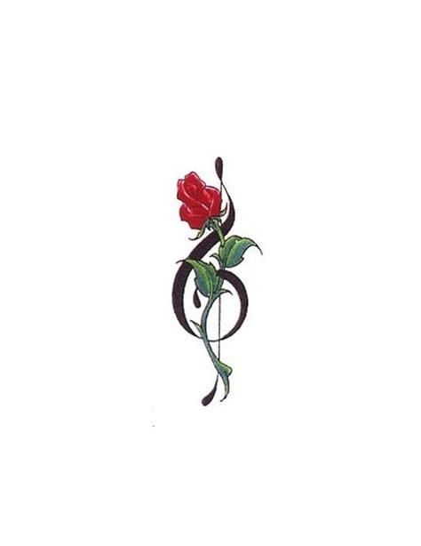 red rose   clef tattoo tattoos pinterest clef  tattoo