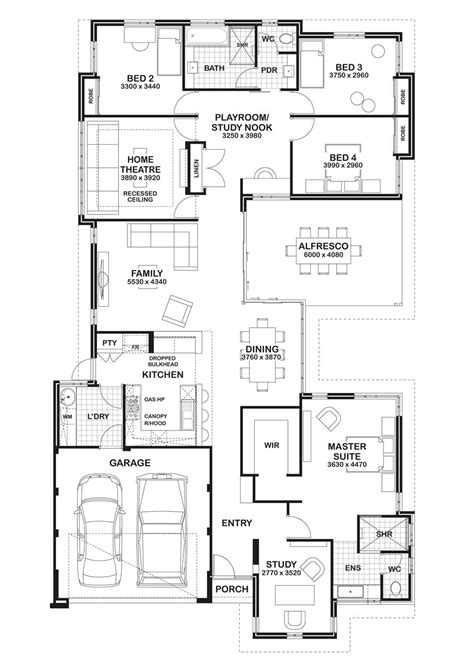 home theater floor plan floor plan friday study home theatre open play area