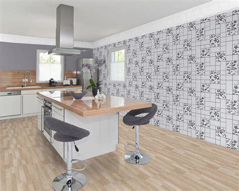 papier peint moderne cuisine edem 146 20 bain atelier aspect carrelage gris clair anthracite