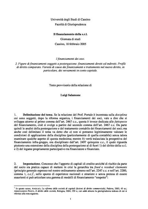 dispense diritto fallimentare conferimenti in natura s r l 2465 c c dispense