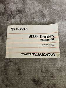 2000 Toyota Tundra Owners Manual Oem Free Shipping