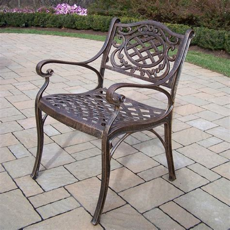 shop oakland living cast aluminum patio dining chair at
