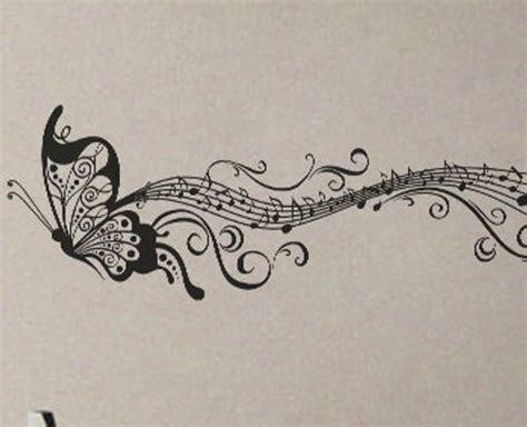 butterfly  notes wall decal vinyl decor art modern