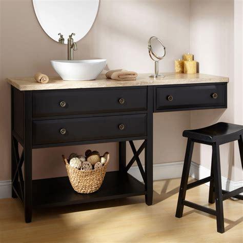 Vanity Area In Bathroom by Bathroom Vanity With Makeup Area 60 Quot Clinton Black