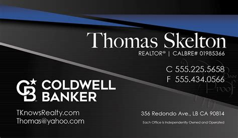 coldwell banker business cards  shipping  design