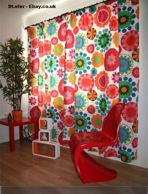 Curtains made from Ikea fabric (Ebay)   crafting space