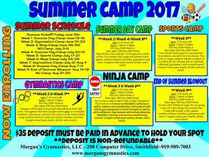 2017 Summer Camp Schedule is released! - Morgan's Gymnastics