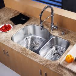 kraus kbu23 kpf1612 ksd30 31inch undermount kitchen sink w