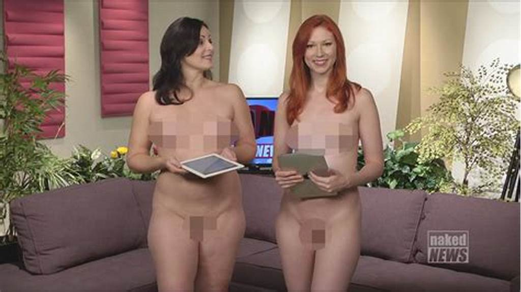 #Female #Presenters #Strip #Off #To #Present #News #Completely #Naked