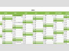 Numbers Vorlage Kalender 2016 Ganzjahr Numbersvorlagende