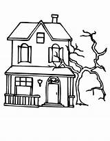 Haunted Coloring Pages Tree Mansion Spooky Dead Beside Colorings Printable Sheets Getcolorings Halloween Sun Trees Getdrawings Template Utilising Button sketch template