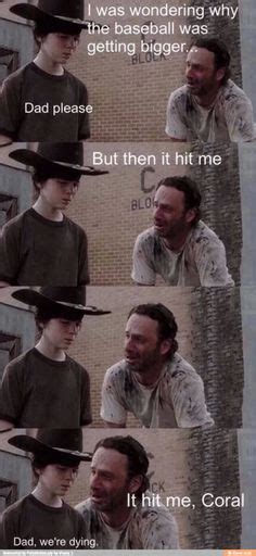 Coral Meme - 1000 images about walking dad jokes on pinterest dad jokes rick grimes and coral