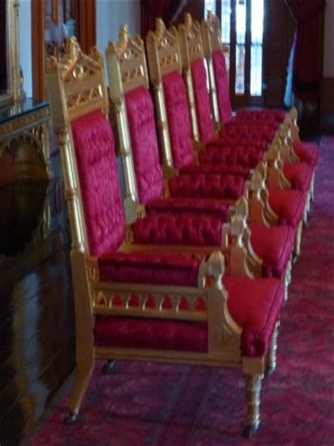 royal thrones on second floor of palace picture of
