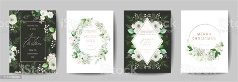 Elegant Merry Christmas And New Year 2020 Card With Pine