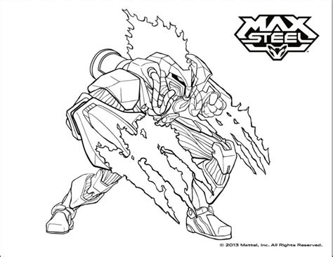 max steel  kids max steel kids coloring pages