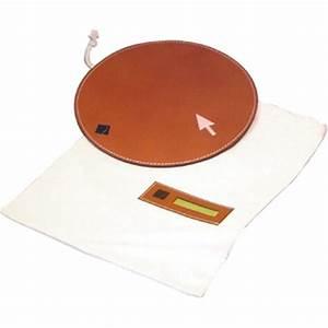 tapis de souris cuir buffle quart de poil With tapis de souris rond personnalisé