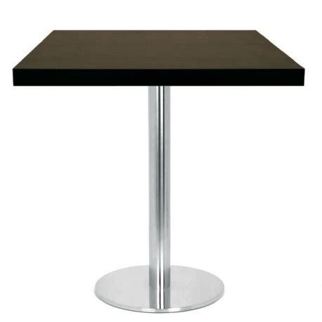 chaise et table de restaurant table restaurant 60x60 cm plateau bois et pied inox brossé