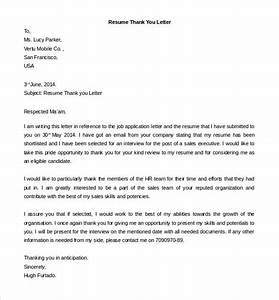 free thank you letter templates 49 free word pdf With editable resume template download