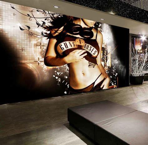 decor ktv bar beautiful sexy girl wallpapers golden