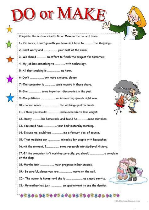 Do Or Make? Worksheet  Free Esl Printable Worksheets Made By Teachers