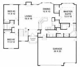 simple level split house plans ideas photo plan 1602 3 split bedroom ranch w walk in pantry