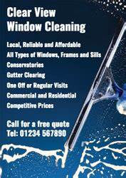 Window Cleaning Flyer Window Cleaner Leaflets With Free Delivery Putty Print
