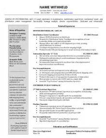 Inventory Control Manager And Logistics Resume Example