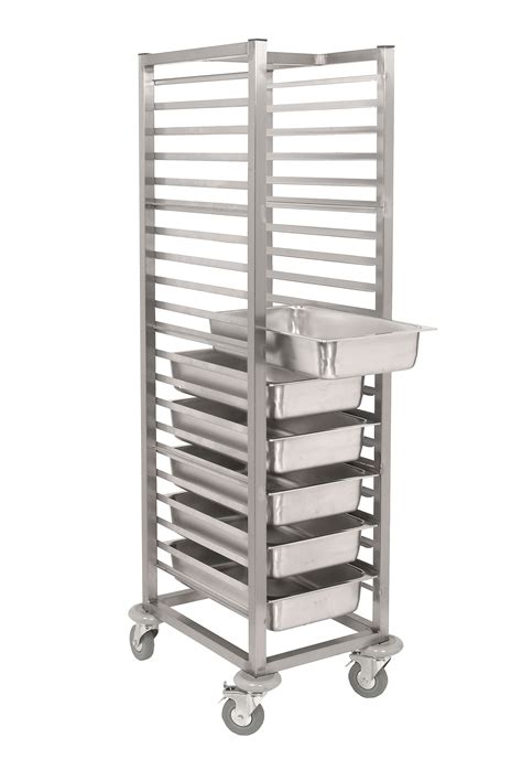 sct stainless steel gastronorm tray trolley parry