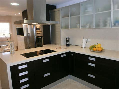 fotos de cocinas pequenas  de color oscuro
