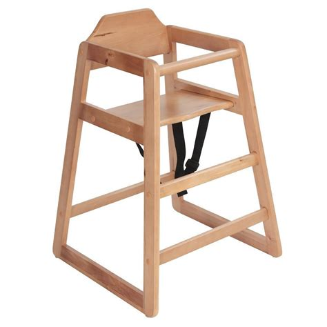 Safetots Simply Stackable Wooden Highchair Natural Baby
